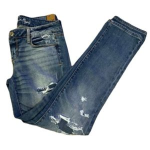 American Eagle Stretch Distressed Skinny Jeans